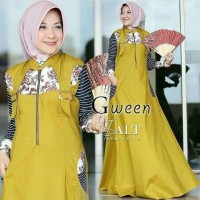Baju Dress Gween Salt / Dress Maxi / Gamis Syari