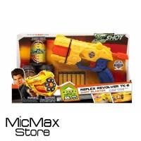Mainan Pistol Mirip Nerf Emco Zuru X Shot Reflex Revolver TK-6 Ori