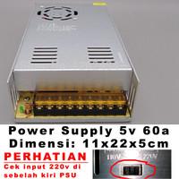 Power Supply Switching 5V 60A dengan fan