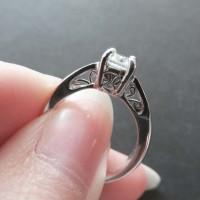 Cincin Berlian Simulant - Aurora Ring