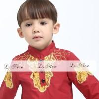 Baju Koko Anak: L Nice 85-02 Koko Golden Red (1-6 Tahun *Kiddostore*