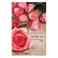 Nature Republic Real Nature Mask Sheet - Rose 1 pcs KOREA ORIGINAL