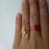 cincin emas asli kadar 700 model 3 permata MURAH