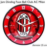 Jam Dinding Rumah Club Bola 25 cm ac milan