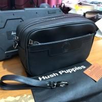 HANDBAG KULIT HUSHPUPPIES HITAM  HAND BAG COWOK HUSH PUPPIES BLACK NEW 6dda802796