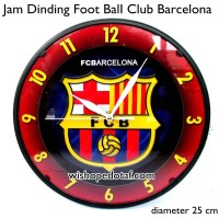 Jam Dinding Rumah Club Bola 25 cm Barcelona