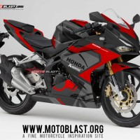 Decal Stiker CBR250RR livery Ducati Black Red