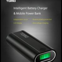 GRATIS ONGKIR TOMO M2 DIY POWER BANK CASE 2 USB PORT + LCD DISPLAY !!!