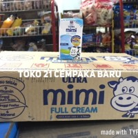 Susu UHT Ultra Mimi FULL CREAM 125ml 1 KARTON | Susu Krim Putih 125 ml