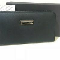 Tas dompet wanita cewek branded murah charles and keith CK Zip wallet