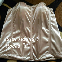 "Bustier Satin Tulang 8 ""Mocca L"" - ready stock promo"