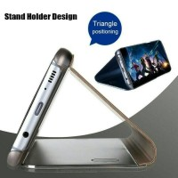 Samsung Galaxy Note 8 Flip Smart Case S View Clear mirror Stand Cover