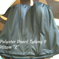 "Bustier Polyster Vneck Tulang 9 ""Hitam L"" - ready stock promo"