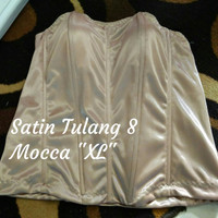 "Bustier Satin Tulang 8 ""Mocca XL"" - Ready Stock Promo"