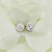 anting tindik bvlgari diamond stainles premium quality