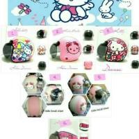 Helm Retro Bogo Motif Hello Kitty Fashion Wanita SNI Murah