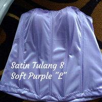 "Bustier Satin Tulang 8 ""Soft Purple L"" - ready stock promo"