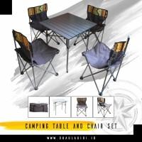 Satu Paket Meja Kursi Lipat Outdoor Cocok Untuk Camping Ceria Camping