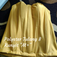 "Bustier Polyster Tulang 8 ""Kunyit M+"" - Ready Stock Promo"