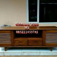 Meja Tv Minimalis Jati (sofa, nakas, lemari, bufet, rak, pigura jati)