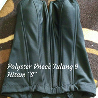 "Bustier Polyster Vneck Tulang 9 ""Hitam S"" - Ready Stock Promo"