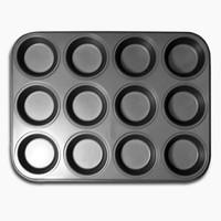 Jual Loyang muffin, cup cake pan, anti lengket 12 lubang Murah