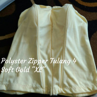"Bustier Polyster Zipper Tulang 4 ""Soft Gold XL"" - Ready Stock Promo"