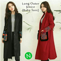 long coat vest outer muslimah