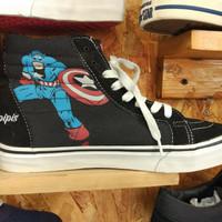Sepatu Vans SK8 - High Marvel Avengers Premium keren