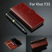 Flip Cover Vivo Y35 VivoY35 Wallet Leather Case Casing