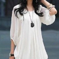 Dress Putih Gaun Pesta Wanita jumbo Baju Dres xl White big size besar
