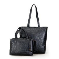 tas jinjing kempit besar big size wanita fashion trendy hand bag hitam