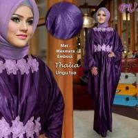 kaftan pesta thalia ungu,big size,jumbo,plus size baju pesta muslimah