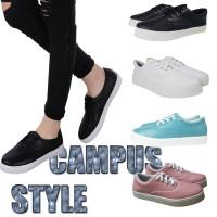 CAMPUS STYLE Sepatu kets wanita korea / sepatu casual cewek sekolah