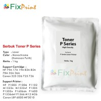 Serbuk Toner P Series Putih, Printer HP P1005 P1006 P1102 M1522n