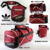 Terlaris slingbag travel adidas climacool maroon . tas selempang