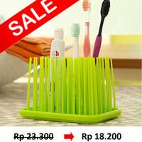 Organizer tempat sikat gigi dan alat mandi berbentuk rumput - HBH041
