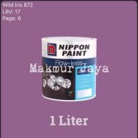 Nippon Flawless Wild Iris 872 1L Tinting Cat Tembok Interior Flaw-less