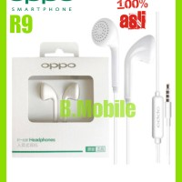 Headset Handsfree Earphone Oppo R9 Original