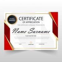 Cetak Piagam Penghargaan A4 Bahan Art Carton 190 Gram