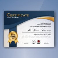Cetak Piagam A4 Art Carton 210 GSM   Poly Emas Logo