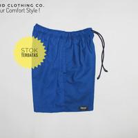 jual celana pantai pria / celana pendek pria branded - blue