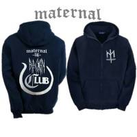 Jaket Distro Maternal Club/ Sweater Hoodie Biru Dongker Casual Premium