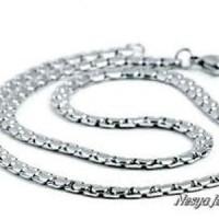 Harga kalung pria maco pipih anyam necklace titanium 316l | Pembandingharga.com