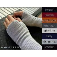 HANDSOCK MANSET JEMPOL Manset Siku Rajut Halus Al-Isra Premium