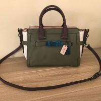 Coach Swagger 27 Colorblock Military Green Bag hand bag bag tas wanita