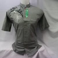 Produsen Baju Muslim Kemeja Baju Koko Abu Lengan Pendek KKP 016
