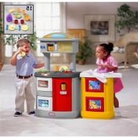 Jual Little Tikes 171574 Double Up Kitchen Laundry 050743171574 Murah