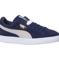 Sepatu Puma Suede Classic Trainers Navy Blue Peacoat Original 3565685