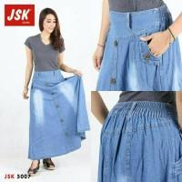 Rok Jeans Panjang Wanita Muslimah Cantik Berkualitas Trendy Modis
